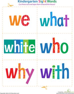 kindergarten-sight-words-sight-words